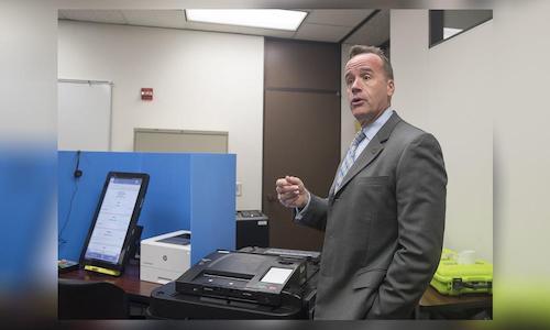 A photo of Georgia Secretary of State Brad Raffensperger.